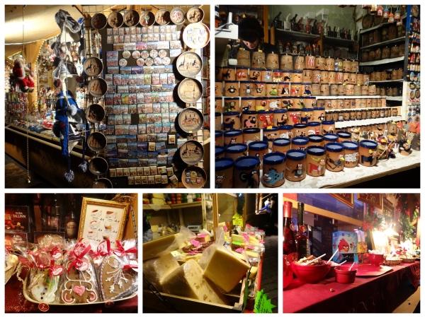 Objetos e comidas vendidos na feirinha de Natal