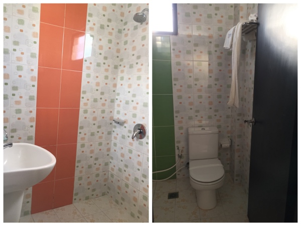 O banheiro- chuveiro sem box ou cortina