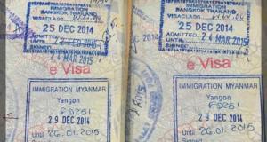 visto de turismo online para myanmar