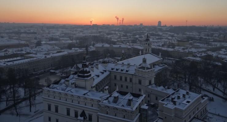 Lituânia: turismo na congelante Vilnius
