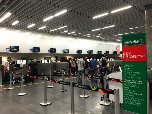 Check in Alitalia Galeao