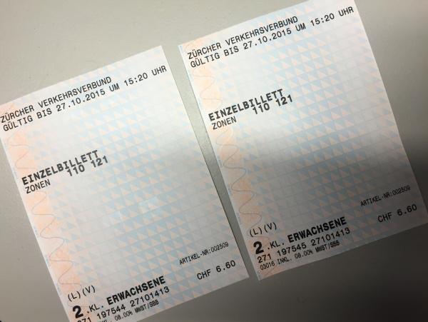Bilhetes Trem Zurique