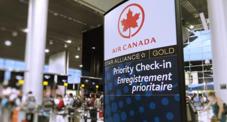 Voando para o Canadá pela Air Canada