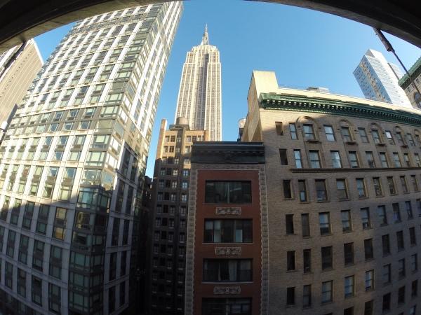 Vista do quarto hotel Wolcott
