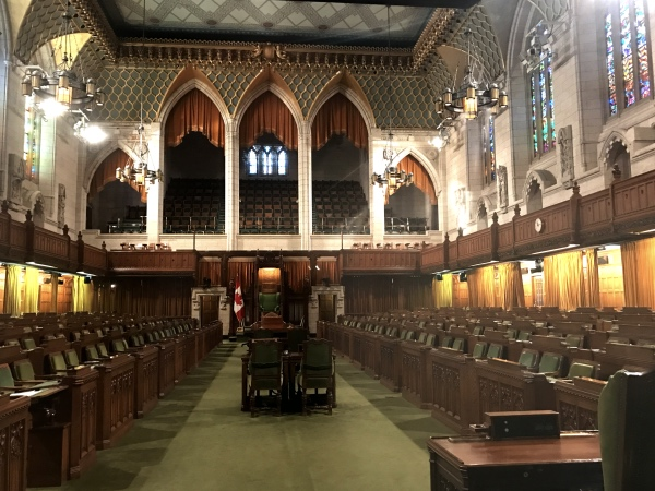 Dentro do Parlamento do Canadá