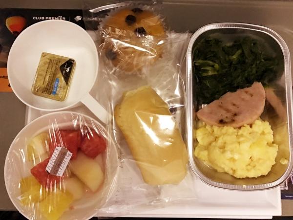Café da manhã na Aeroméxico
