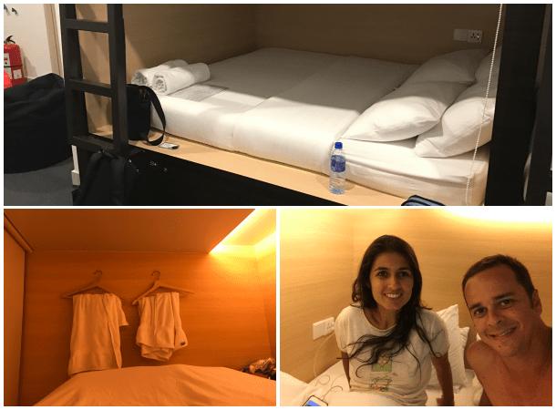 Hotel cápsula em Colombo