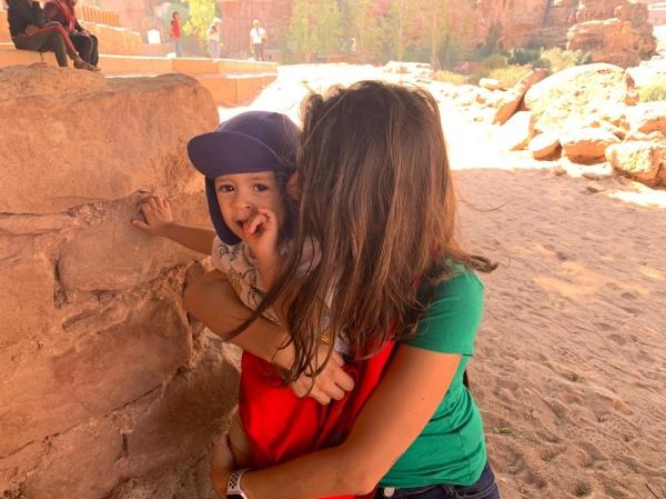 Amamentação em viagens Petra