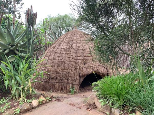 Casa típica do povo suázi