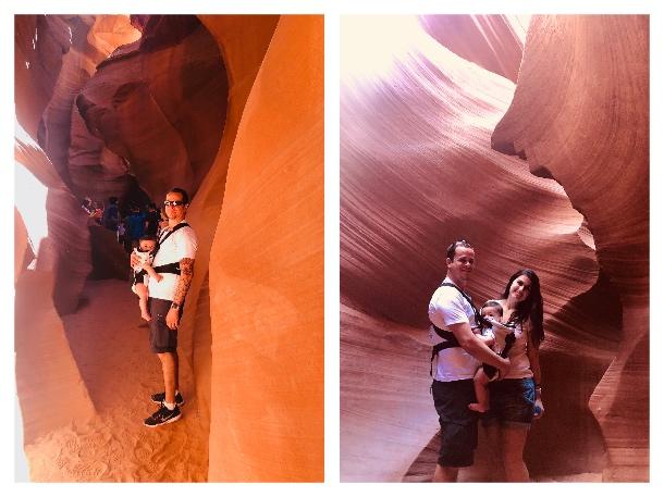Passeio pelo Lower Antelope Canyon com bebê