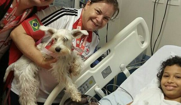 Medicão Brasil visita UTI pediátrica do Hospital Celso Pierro