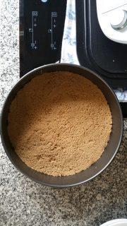 Cheesecake de dispopiro - prensar bem a base