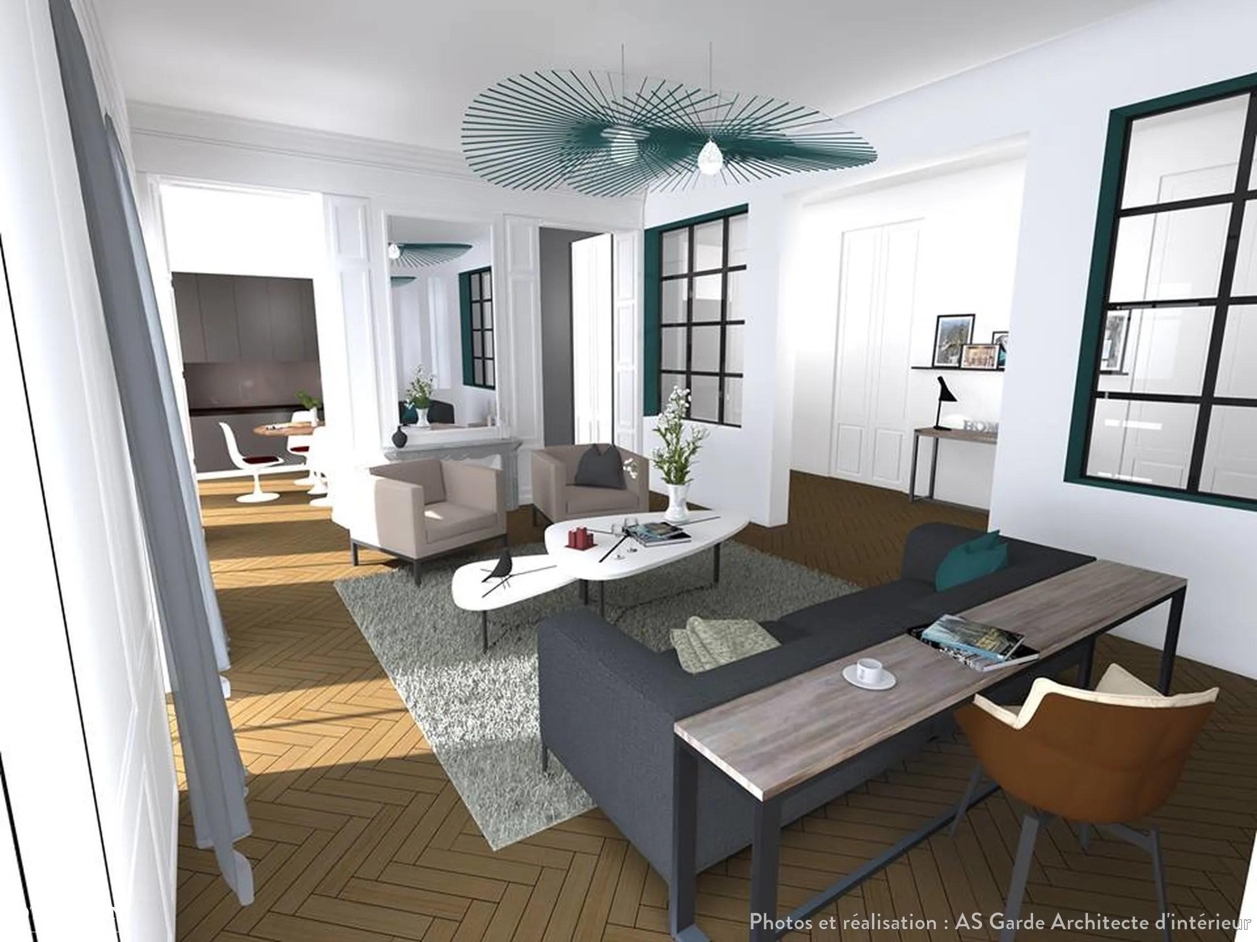 Appartement Haussmannien Paris AS Garde Architecte dintrieur  Ct Maison