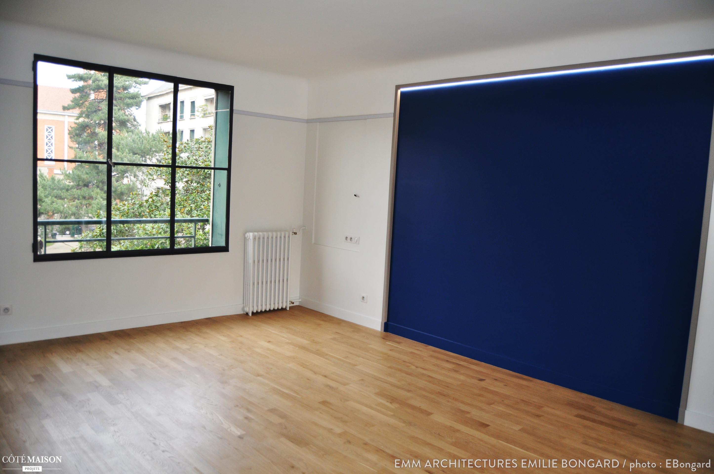 Appartement de 75m2 entirement repens MM Architectures Emilie Bongard  Ct Maison