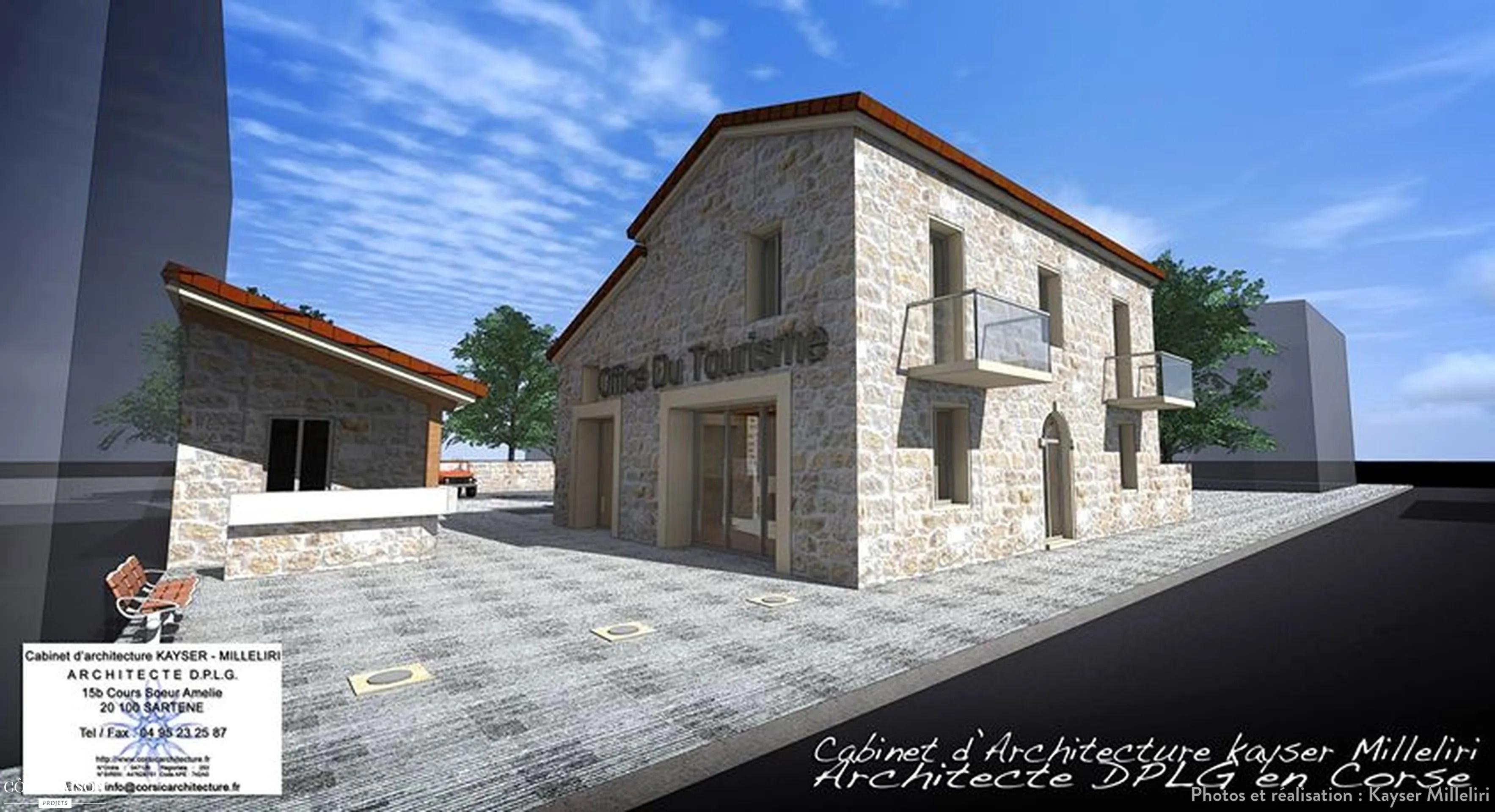 rehabilitation de la maison cantonniere pour la creation de l office du tourisme propriano