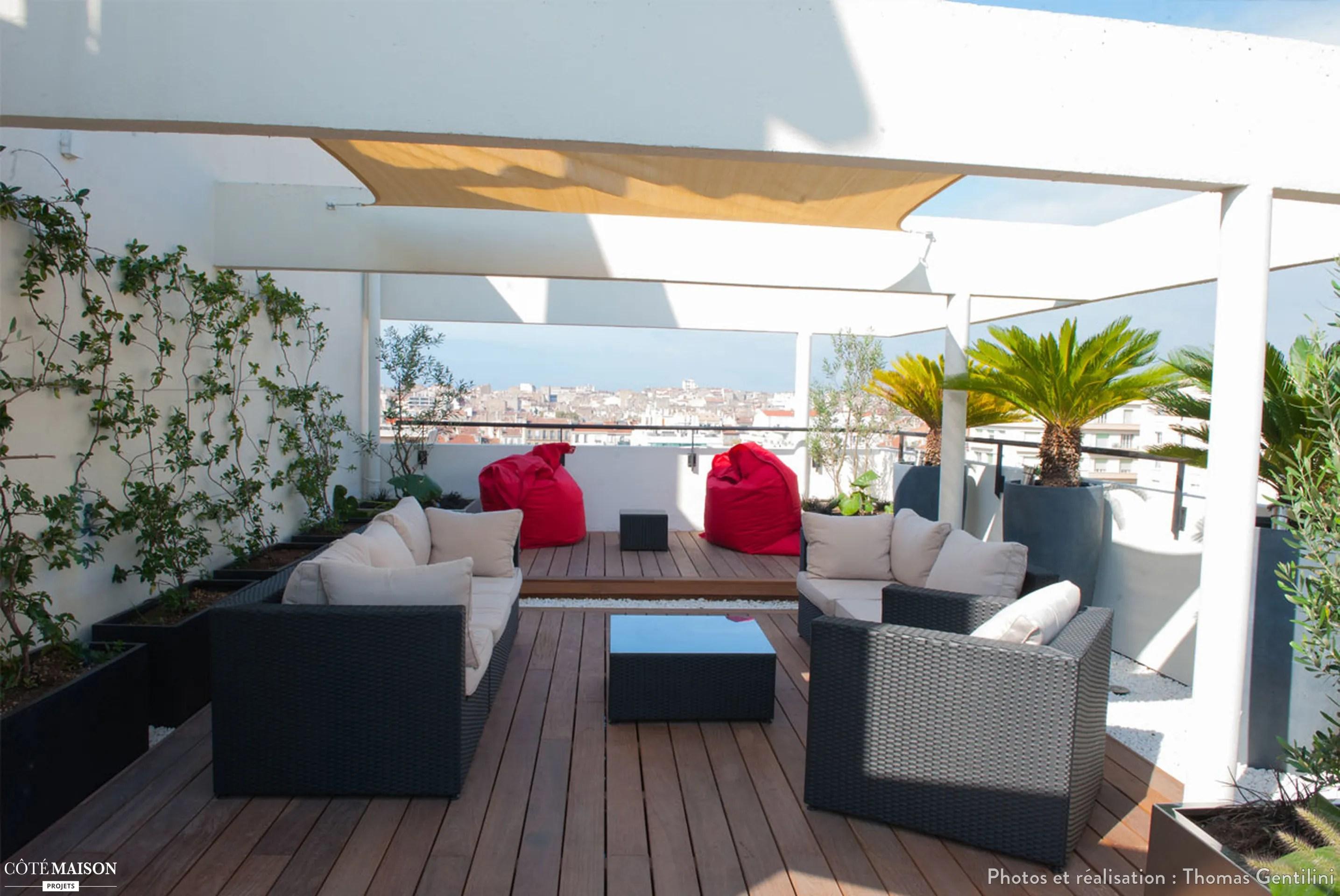 Terrasse contemporaine en centre ville de Marseille Thomas Gentilini  Ct Maison