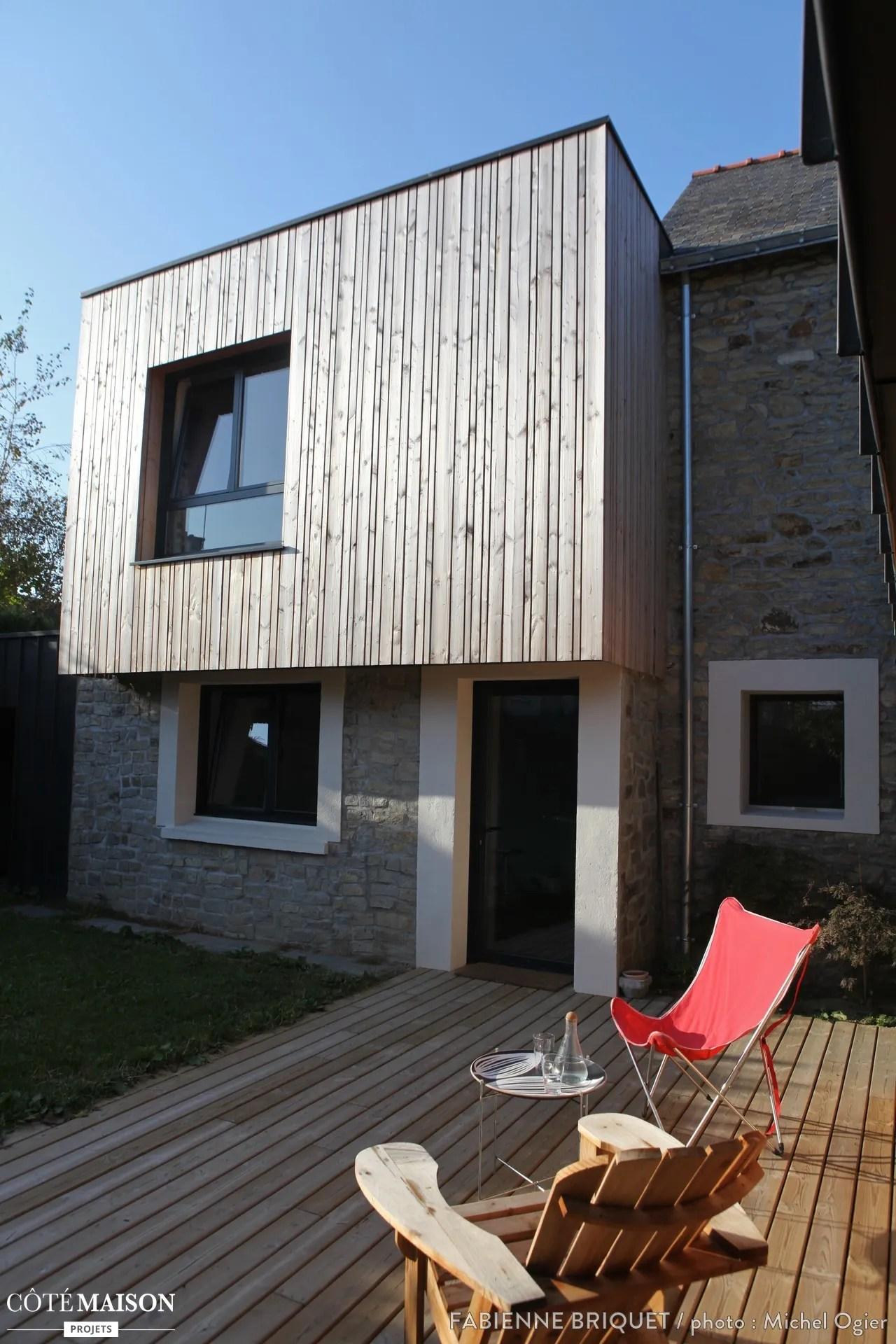 Extension et surlvation dune maison Fabienne Briquet  Ct Maison