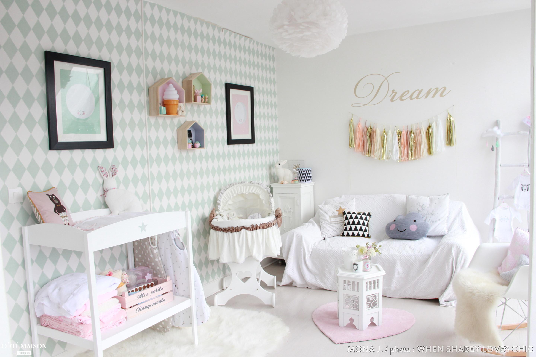 La chambre scandinave et pastel de mon bb Mona J  Ct Maison