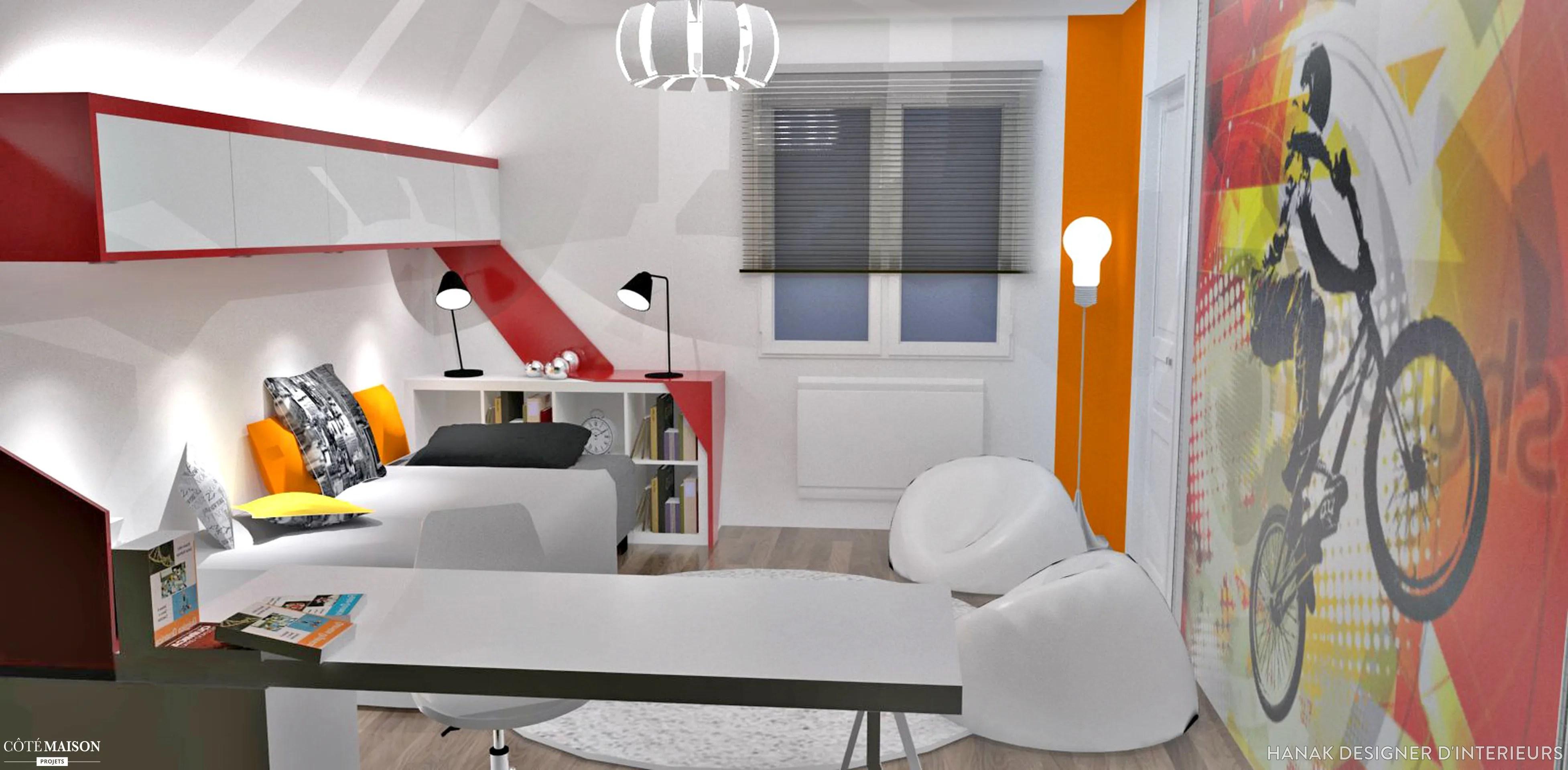 Chambres dado style sport  New York HanaK Designer dintrieurs  Ct Maison