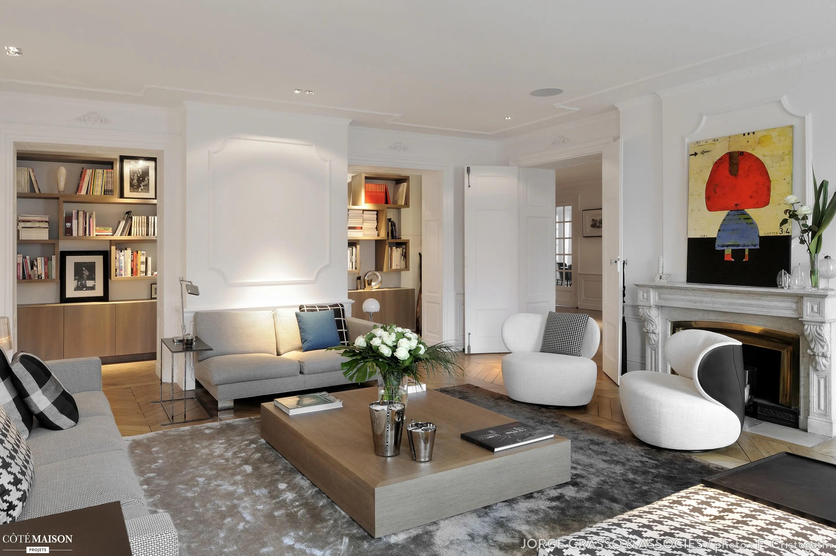 Appartement haussmannien quai de Sane Lyon Jorge Grasso  Ct Maison
