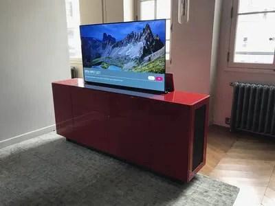 النتيجة هدد شريان meuble tv escamotable prix