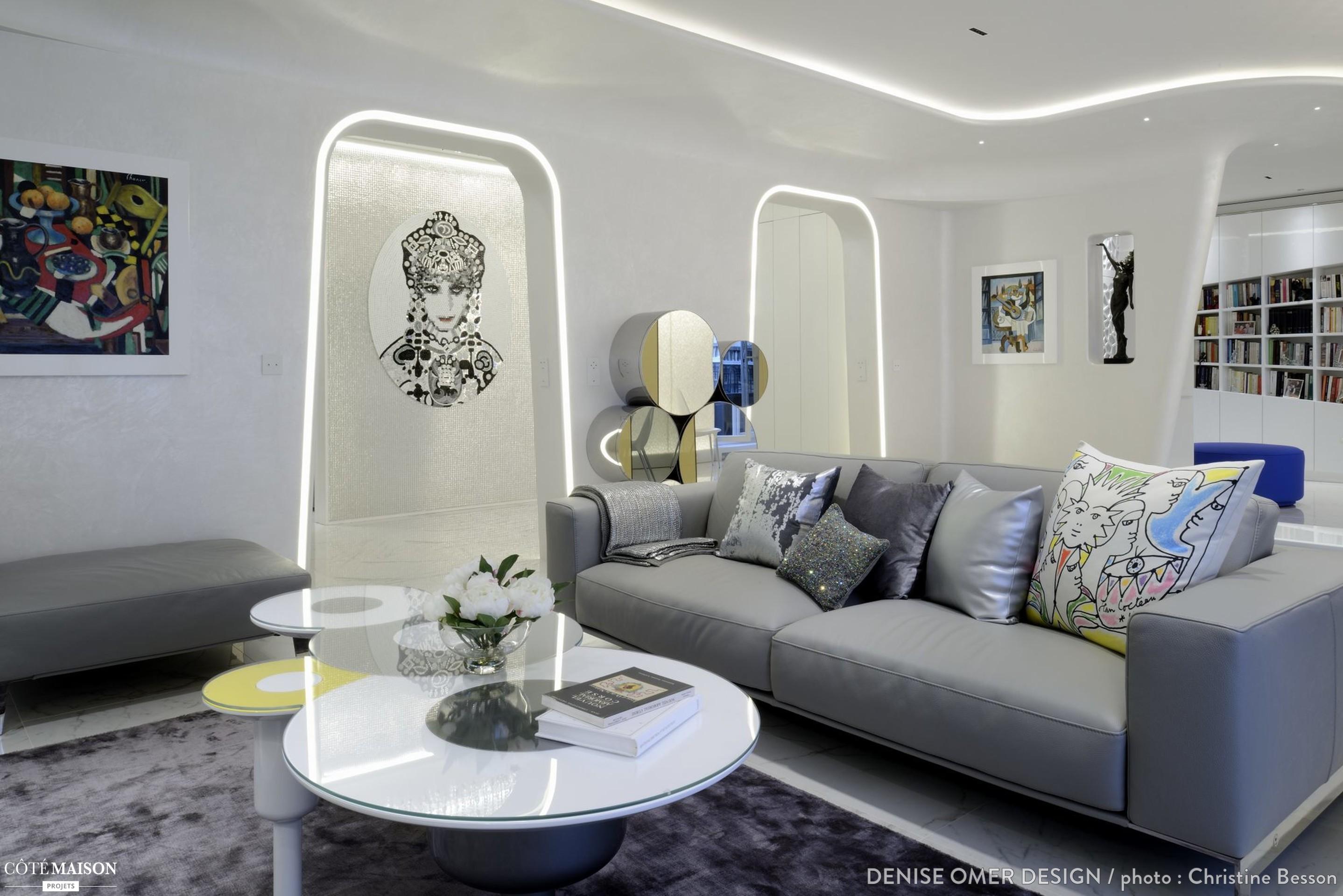 appartement luxe blanc neuilly sur seine denise omer design architecte