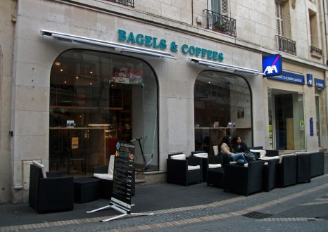Devanture de Bagels & Coffees, rue Michelet, Tours