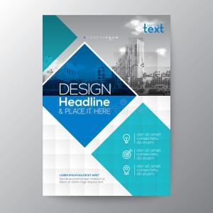 blue-teal-diamond-shape-graphic-background-brochure-annual-report-cover-flyer-poster-design-layout-vector-template-91145913