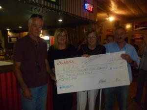 Cheque handover to VerAsc