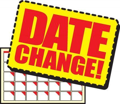 Calendar Changes – Take Note