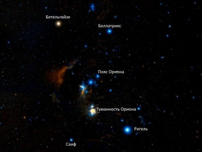Мессье 42: Туманность Ориона