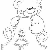 Alfabeto de Ursinho para colorir