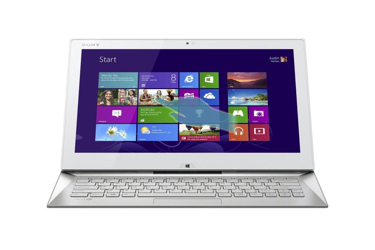 màn hình Sony VAIO Duo 13 SVD13 Ultrabook màu trắng