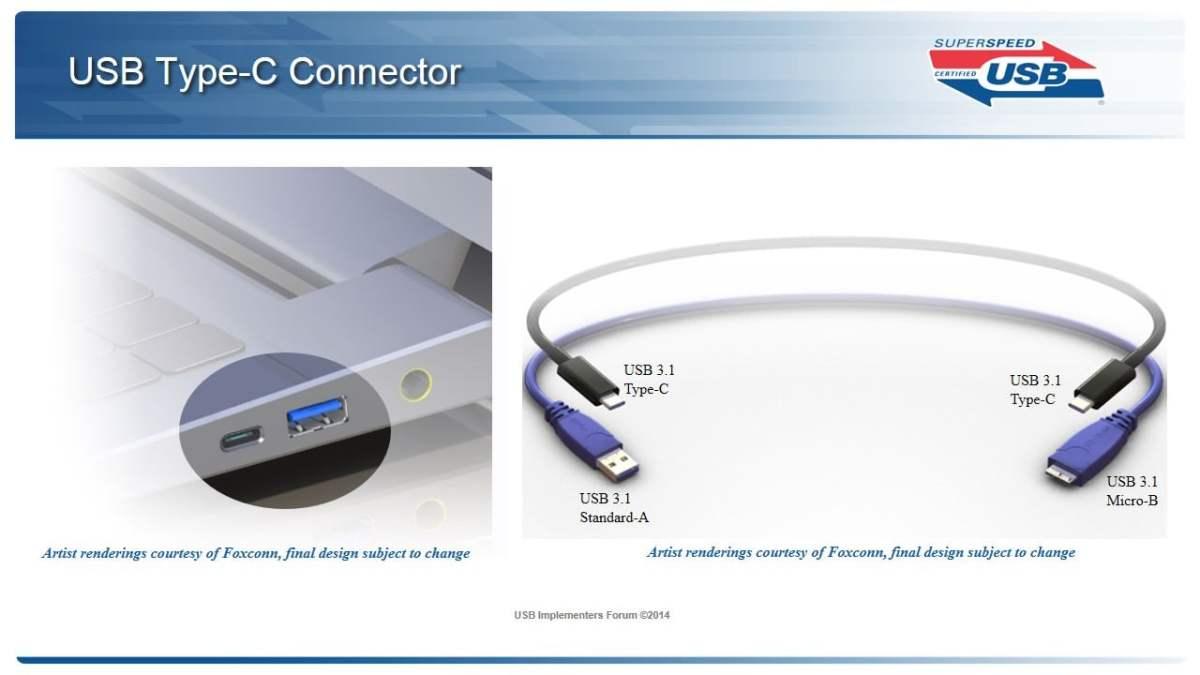 Laptop su dung USB type C