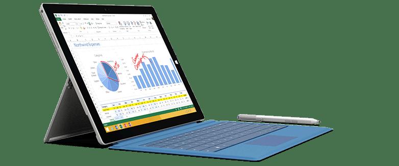 Surface Pro 3 kèm bàn phím Type Cover