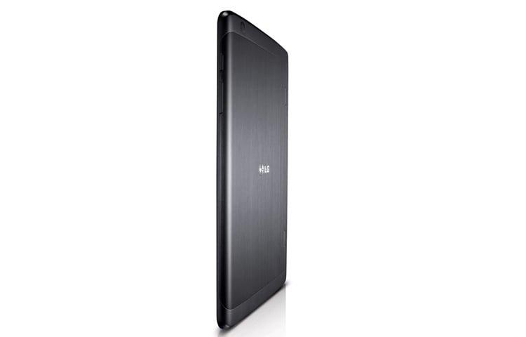 Mặt lưng máy tính bảng LG G Pad 8.3 màu đen nhìn nghiêng