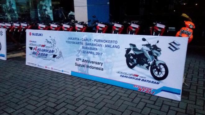 Ketangguhan Suzuki GSX-S 150 akan diuji dalam Touring Jakarta - Surabaya Via Jalur Tengah & Selatan