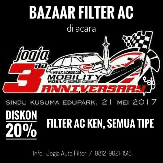 Diskon 20% Filter AC KEN di Bazaar Anniversary Mobility Jogja