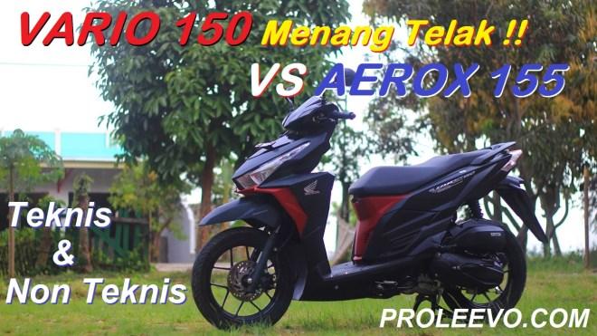 Honda Vario 150 vs Aerox 155