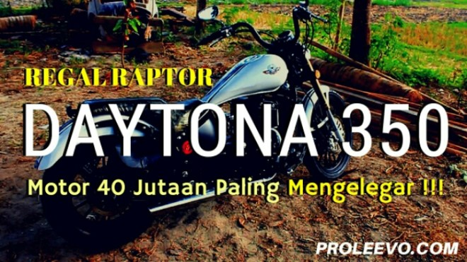 Video Suara Knalpot Regal Raptor Daytona 350. Menggelegar !!