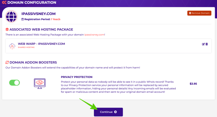 bật bảo mật tên miền