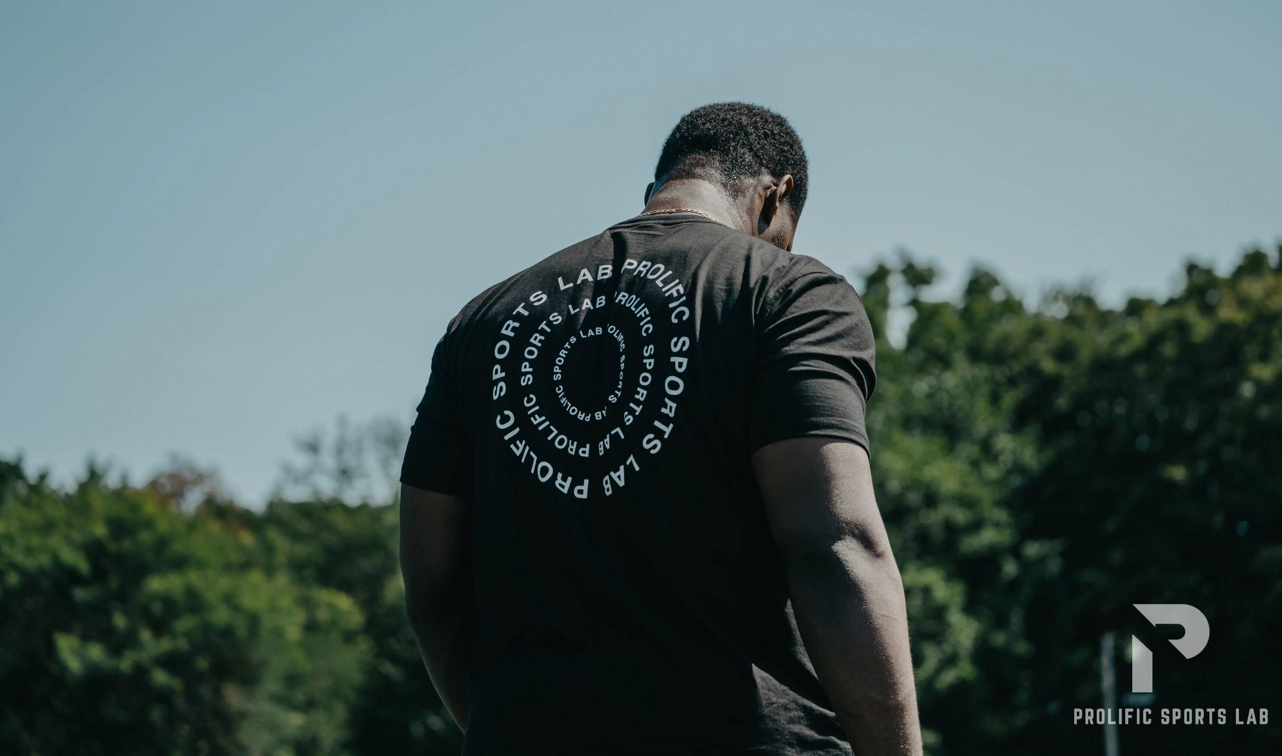 "Black ""Victory Line"" T-Shirt"