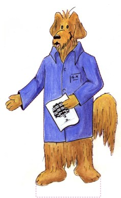 Why is this dog wearing a blue coat? It's the Geneaalogy Hound, and he's wearing a stack coat just an archivist! You can get your picture taken with him--he's over five feet tall--to show you are just as dogged when it comes to following your ancestors' trail through the records!