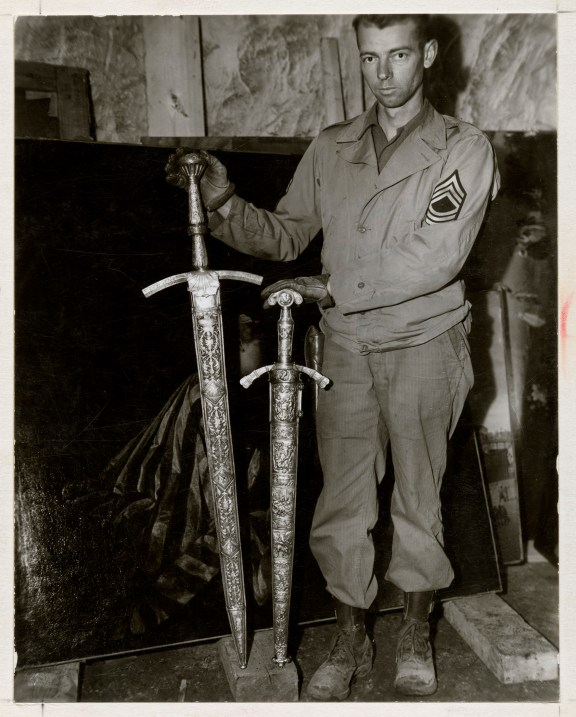 Two finely wrought swords of Frederick the Great. (National Archives,  239-pa-4-127-1)