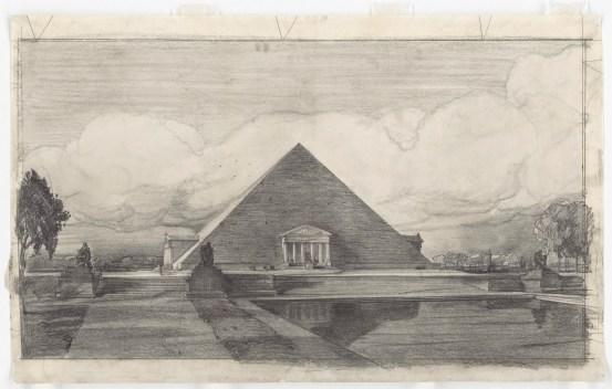 John Russell Pope's Competition Proposal for a Pyramid with Porticoes Style Monument to Abraham Lincoln, 1912. (National Archives Identifier 6087967)
