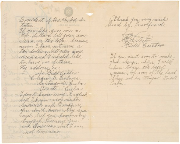 Letter from Fidel Castro to FDR, 1940, pgs 2&3 00968_2003_002
