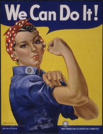 Rosie the Riveter Poster, War Production Board 1942-43. (National Archives identifier 535413)