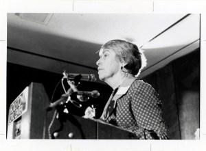 Martha Griffiths at ERA rally in Houston, Texas, 1977. (ARC Identifier 7452294)