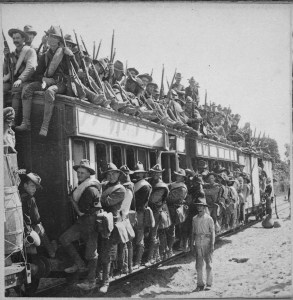 17th Infantry head for action in the Philippine Islands. (National Archives Identifier 533179)