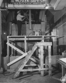 National Archives Building Renovation in Progress, December 9, 1952. (Records of the National Archives)